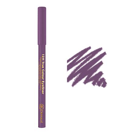 Dermacol, Карандаш для глаз 12h true colour №03, пурпурный