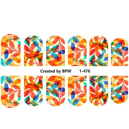 BPW.Style, Слайдер-дизайн «Листья» №1-476