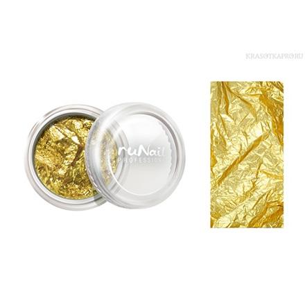 ruNail, Фольга для дизайна ногтей, золотая