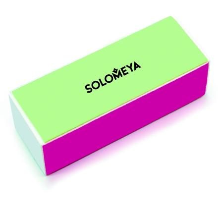 Solomeya, Блок-полировщик для ногтей четырехсторонний цветной, 180/320/800/4000