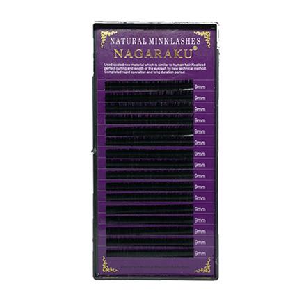 NAGARAKU, Ресницы на ленте Natural Mink, 9/0,10 мм, D-изгиб