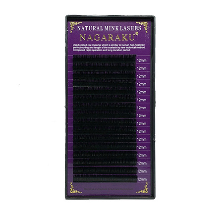 NAGARAKU, Ресницы на ленте Natural Mink, 12/0,10 мм, D-изгиб