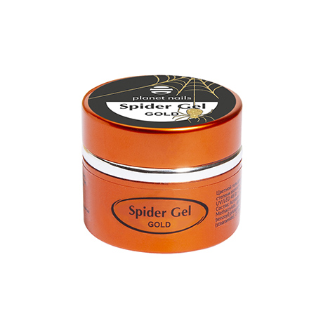 Planet Nails, Паутинка Spider Gel, золотая