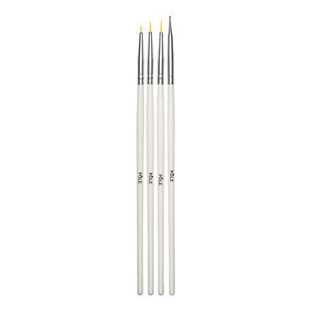 Pole, Набор кистей для дизайна, 4 шт.