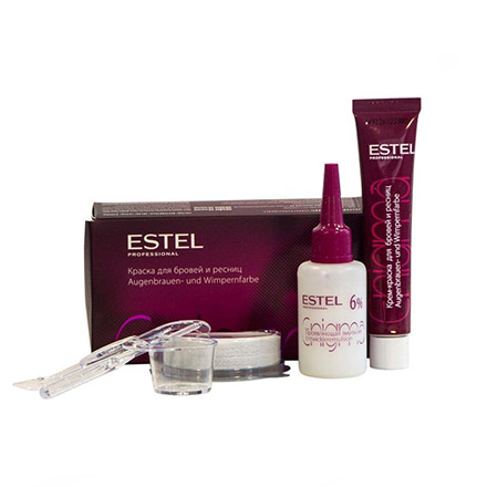 Estel, Краска для бровей и ресниц Enigma, бордовая