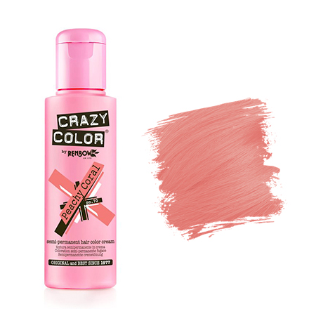 Crazy Color, Краска для волос №70, Peachy Coral