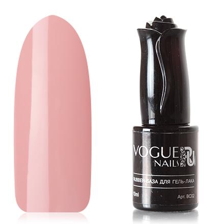 Vogue Nails, База для гель-лака Rubber, розовая, 10 мл