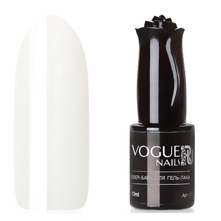 Vogue Nails, База для гель-лака Rubber, натурально-белая, 10 мл