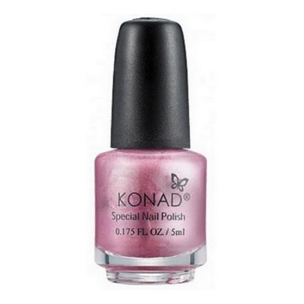 Konad, лак для стемпинга, цвет S54 Indigo Pink 5 ml (розово-серебряный, перламутр) (УЦЕНКА)