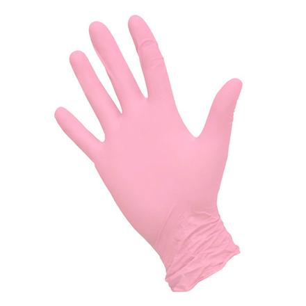 Nitrimax, Перчатки нитриловые розовые, размер S, 100 шт.