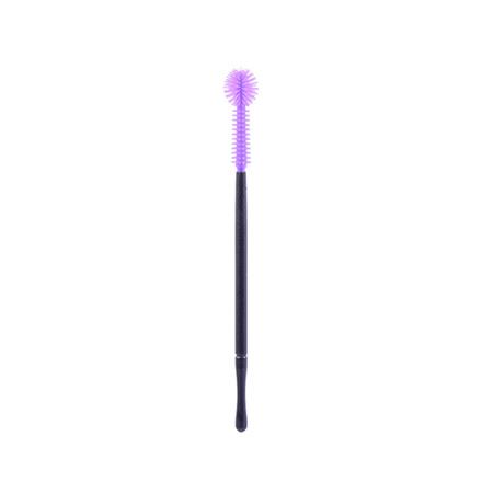 NAGARAKU, Щеточка для ресниц силиконовая, фиолетовая, 1 шт.