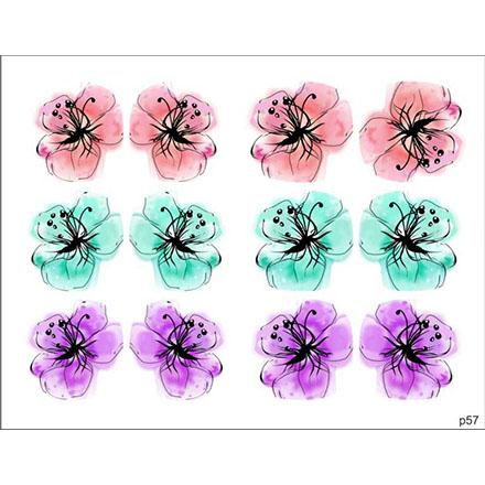 BPW.Style, Слайдер-дизайн «Цветы» №p57, для педикюра