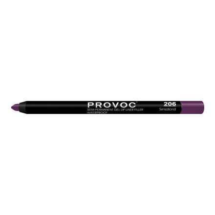Provoc, Гелевая подводка-карандаш для губ № 206, Sensational, цвет сливовый