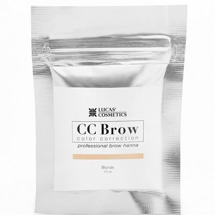 Lucas' Cosmetics, Хна для бровей CC Brow, русый цвет, в саше, 10 г