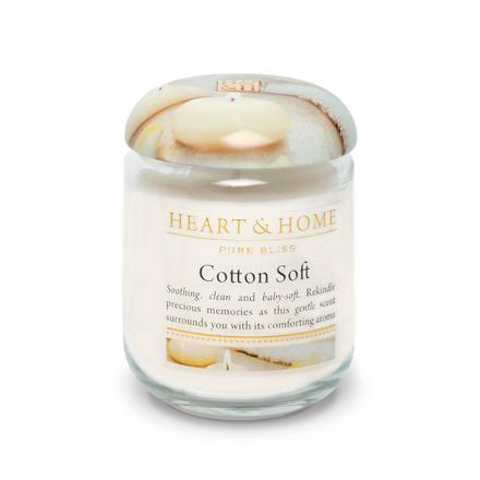 Heart&Home, Свеча «Нежный хлопок», маленькая, 110 г