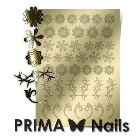 Prima Nails, Металлизированные наклейки FL-01, золото