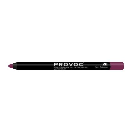 Provoc, Гелевая подводка-карандаш для губ №28, Sexy Cabernet