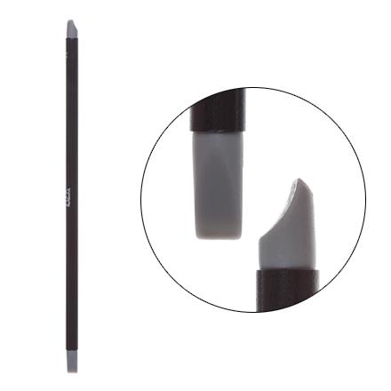 IRISK, Кисть силиконовая с тонкой ручкой Nail Sculptor, вогнутая лопатка/прямая, серая