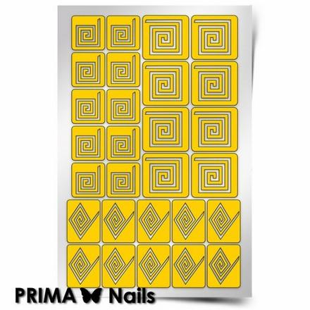 Prima Nails, Трафареты «Спирали квадрат»