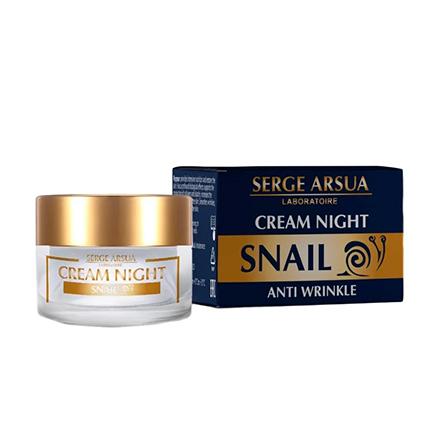Serge Arsua, Ночной крем для лица Snail, 50 мл