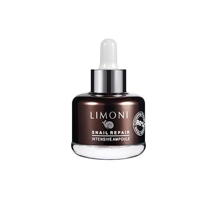 LIMONI, Сыворотка для лица Snail Repair Intensive Ampoule, 25 мл