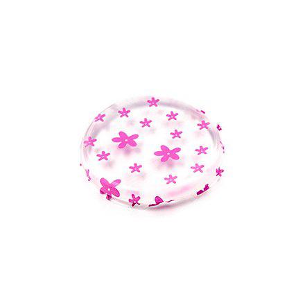 TNL, Спонж круглый, прозрачный с розовыми цветами