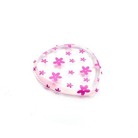 TNL, Спонж «Сердце», прозрачный с розовыми цветами