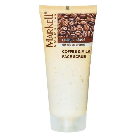 Markell, Скраб для лица Кофе и молоко«Magic Duet», 95 г