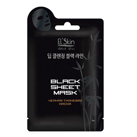 EL'Skin, Маска Black Sheet, 20 г