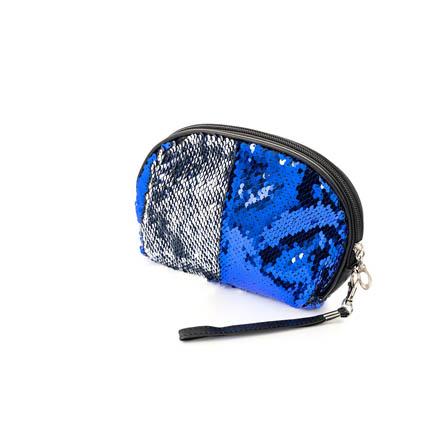 TNL, Косметичка «Русалка», полукруглая, серебряная/синий