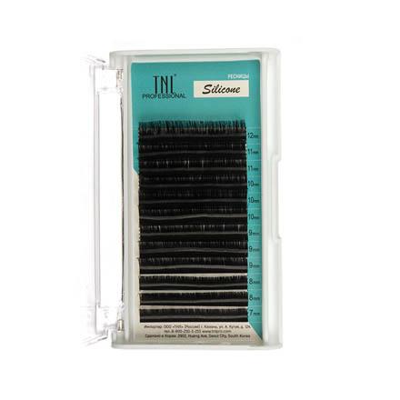 TNL, Ресницы на ленте силиконовые 0,07 мм, D-изгиб (№ 7-12)