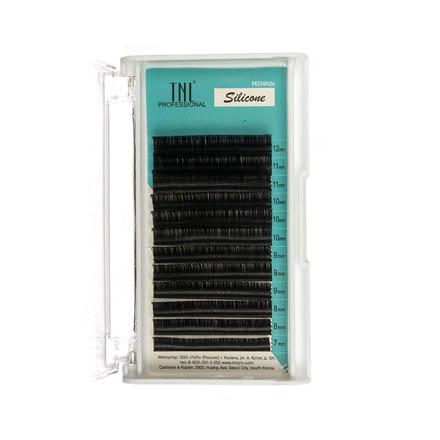 TNL, Ресницы на ленте силиконовые 0,15 мм, D-изгиб