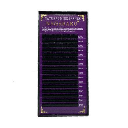NAGARAKU, Ресницы на ленте Natural Mink, 8/0,12 мм, D-изгиб