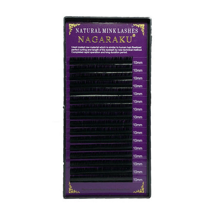 NAGARAKU, Ресницы на ленте Natural Mink, 10/0,12 мм, D-изгиб