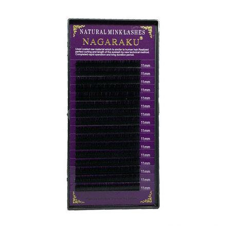 NAGARAKU, Ресницы на ленте Natural Mink, 11/0,12 мм, C-изгиб