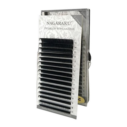 NAGARAKU, Ресницы на ленте Premium Mink, 0,12 мм, B-изгиб