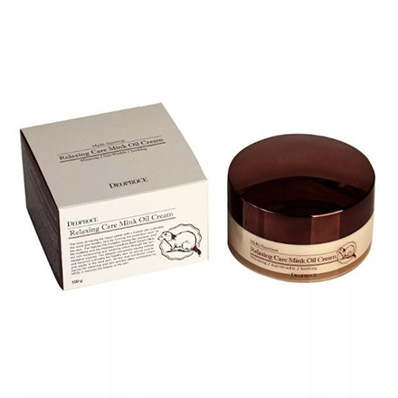 Deoproce, Крем для лица Relaxing Care Mink Oil, 100 г