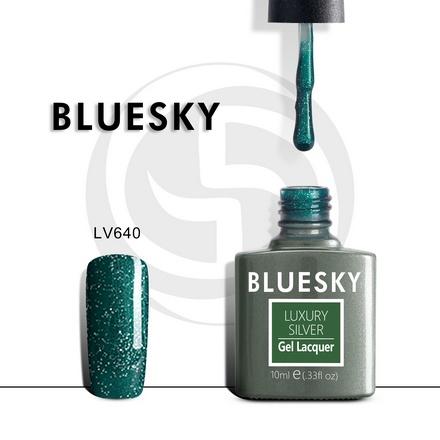 Bluesky, Гель-лак Luxury Silver №640