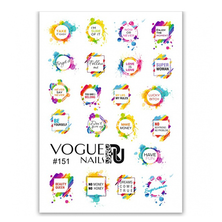 Vogue Nails, Слайдер-дизайн №151
