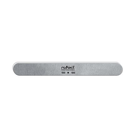 ruNail, Пилка для искусственных ногтей серая, закруглённая, 100/100