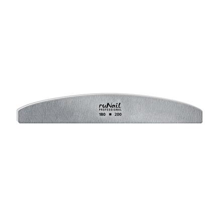 ruNail, Пилка для искусственных ногтей серая, полукруглая, 180/200