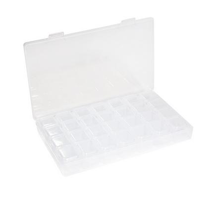 Planet Nails, Контейнер пластиковый, 28 ячеек