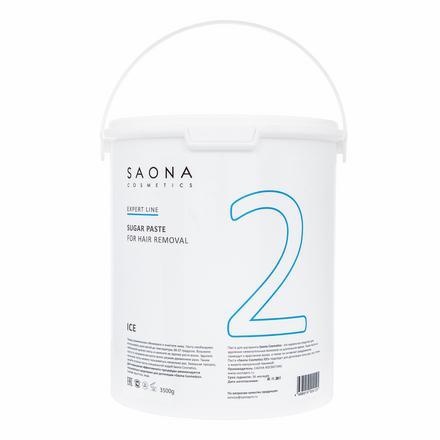 Saona Cosmetics, Сахарная паста для депиляции Ice, очень мягкая, 3500 г