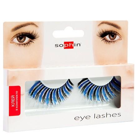 Sophin, Накладные ресницы «Карнавал», черно-синие