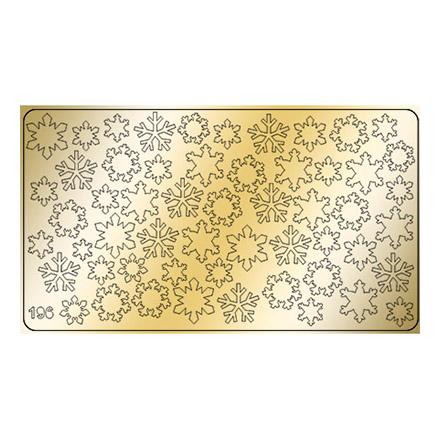 Freedecor, Металлизированные наклейки №196, золото