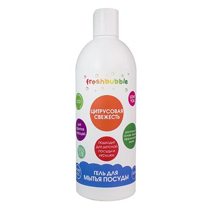 Freshbubble, Гель для мытья посуды «Цитрусовая свежесть», 500 мл