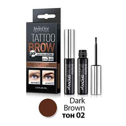 Alvin D'or, Гель-тинт для бровей Tattoo Brow, Dark Brown