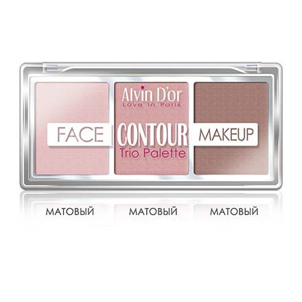 Alvin D'or, Палетка Face Contour Make Up, light