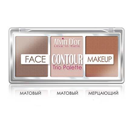 Alvin D'or, Палетка Face Contour Make Up, medium