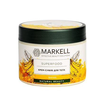 Markell, Крем-суфле для тела Superfood, банан, 300 мл